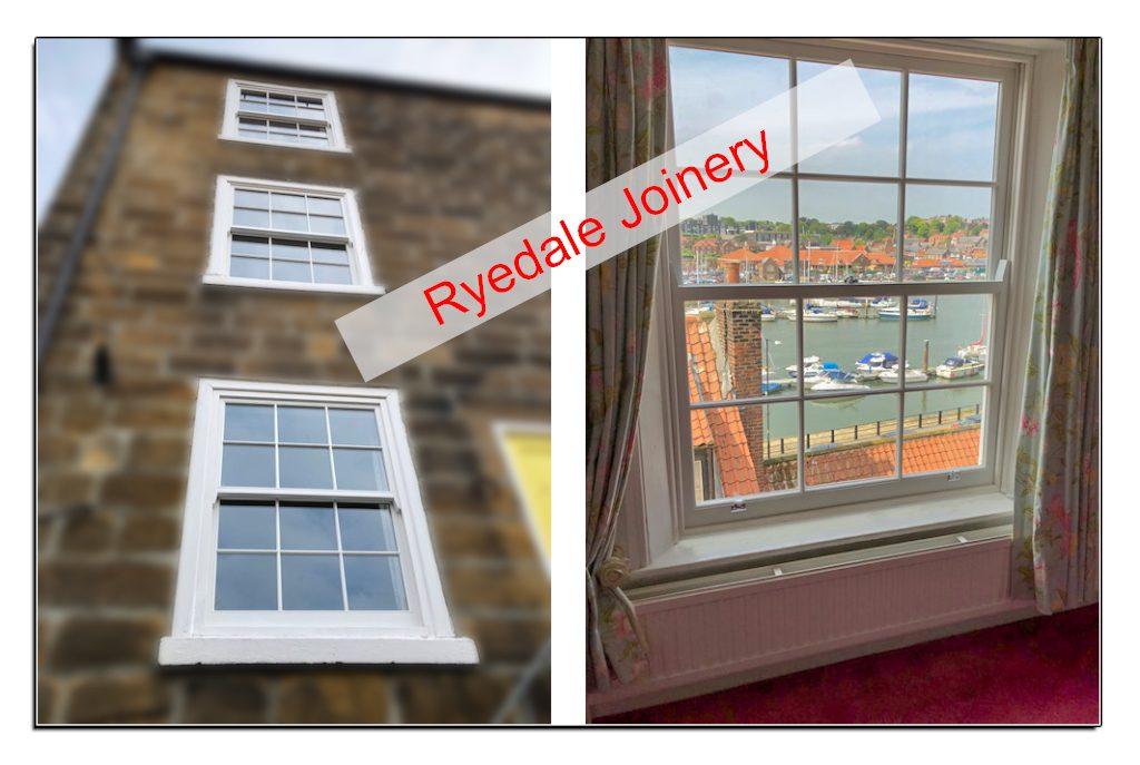 Upgraded and double-glazed wooden sash windows