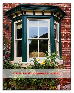 An upgraded Victorian sash window with double glazed units.