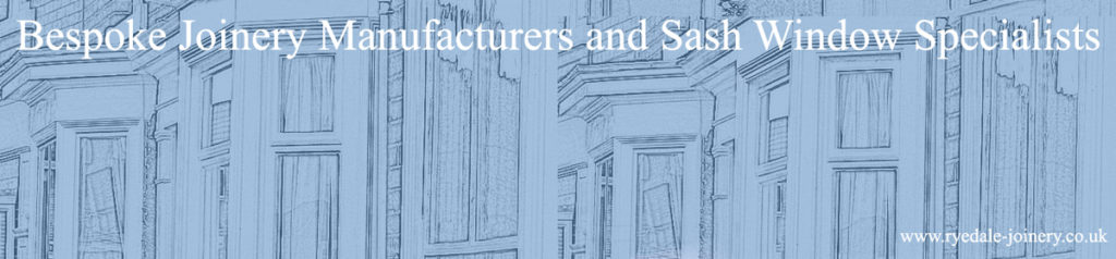 Ryedale Joinery Header Image featuring various sash windows.