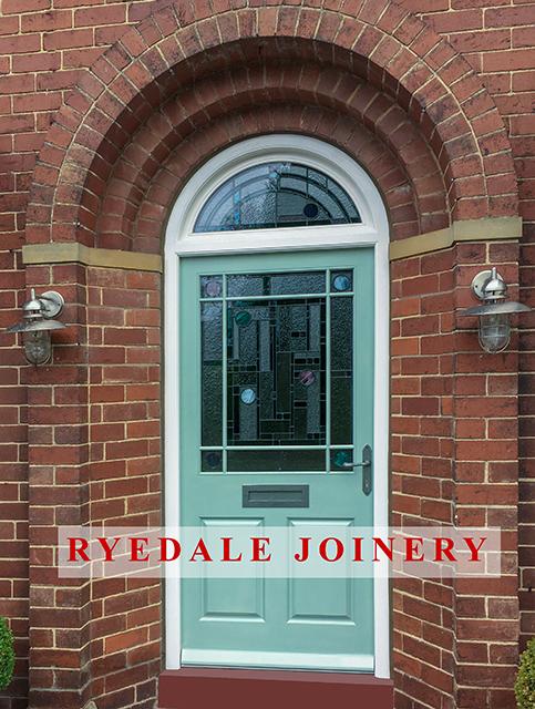 Custom made front door, manufactured in Accoya®.