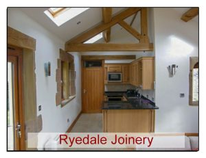 High quality kitchen with oak units.