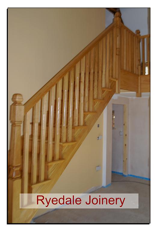 Craftsman made Oak staircase