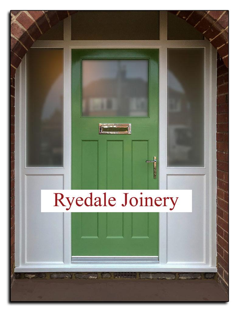 Wooden Exterior Door and Door Frame