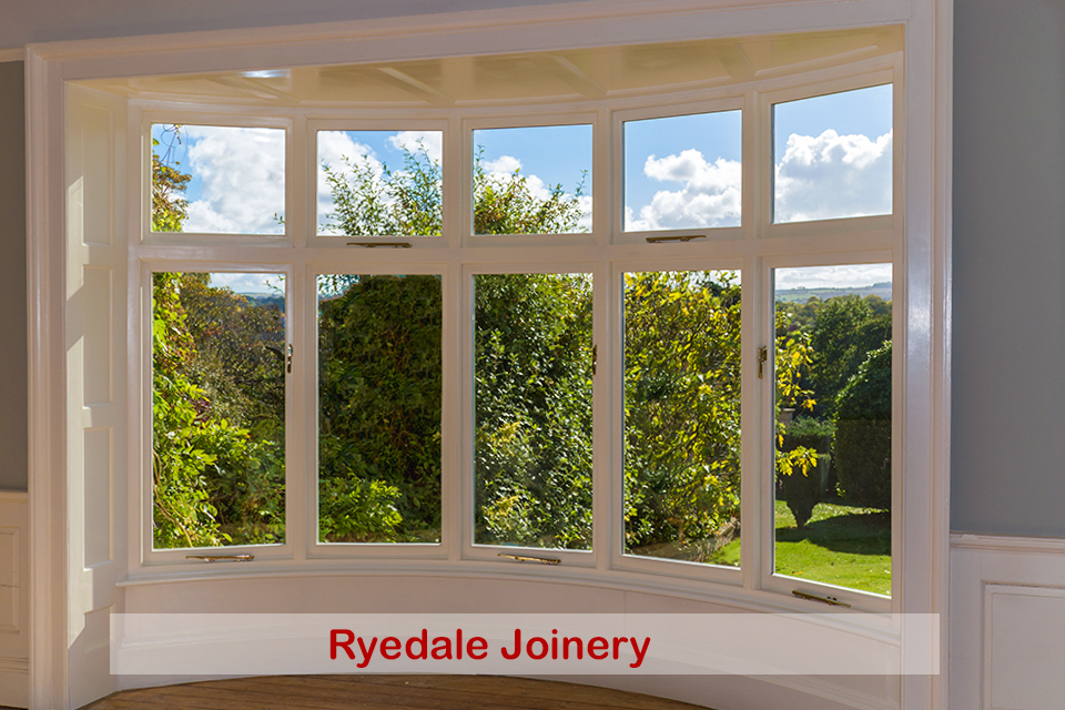 Wood Bow Window manufactured and double-glazed by Ryedale Joinery