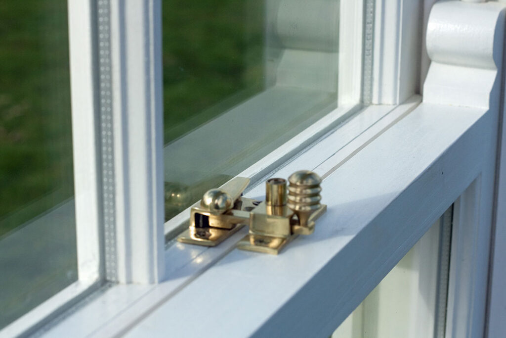 An example of the double-glazed wooden sash windows available to customers in York.